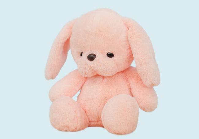 粉红小兔兔毛绒玩具