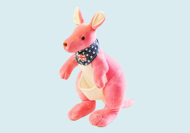 粉红小袋鼠玩具