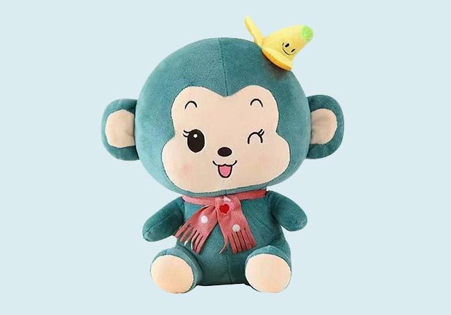 绿色俏皮猴玩具