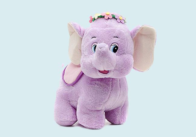 紫色花花小象玩具