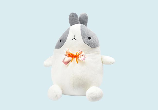 领结小兔毛绒玩具