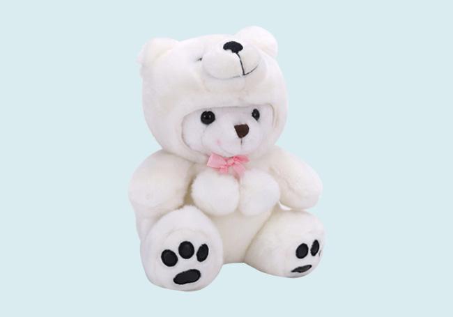 北极熊头套小熊玩具