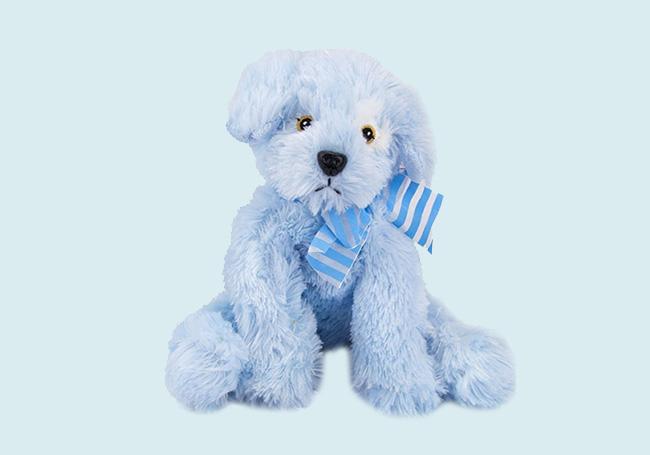 蓝色领结小狗玩具