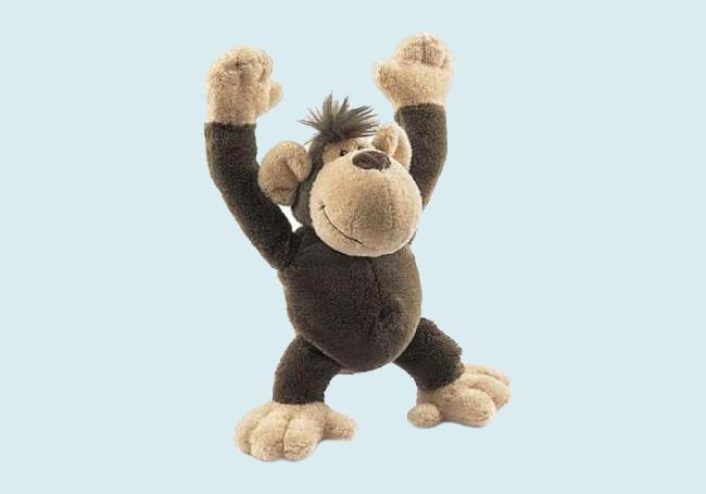 棕色猩猩毛绒玩具