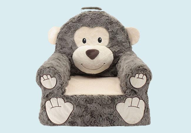 棕色猩猩毛绒椅子