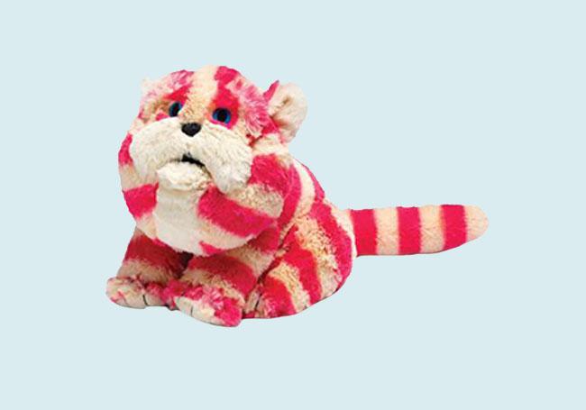 条纹猫咪毛绒玩具