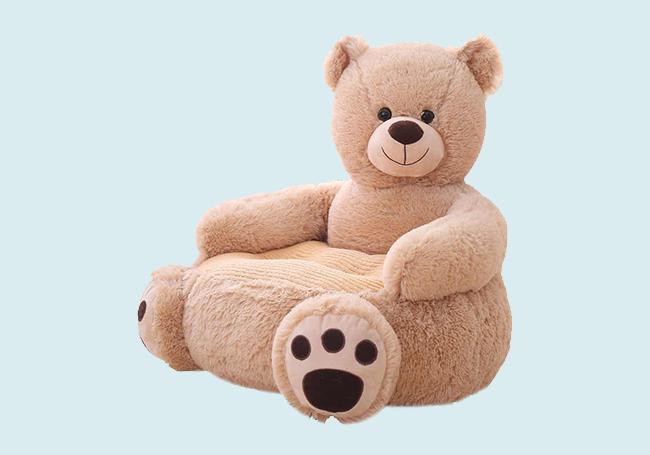 微笑泰迪熊毛绒椅子