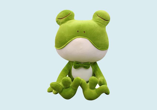 坐姿小青蛙毛绒玩具