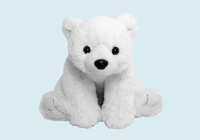 白白北极熊毛绒玩具
