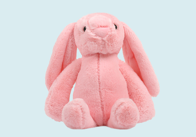 粉色坐姿小兔毛绒玩具