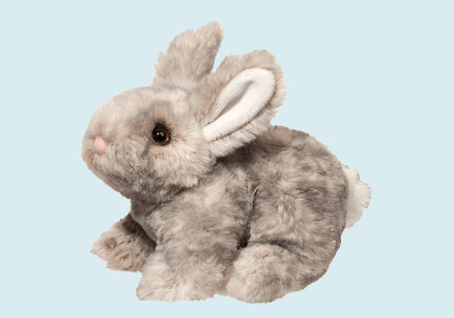 灰色兔子毛绒玩具
