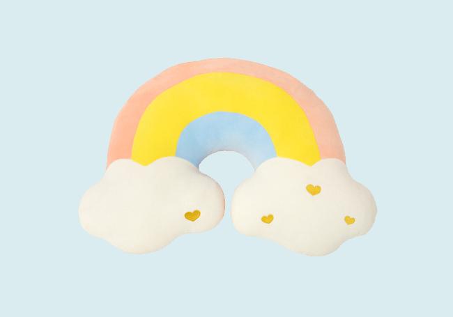 云端小彩虹抱枕