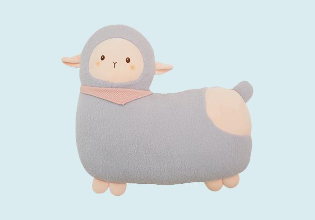 粉蓝小羊驼抱枕