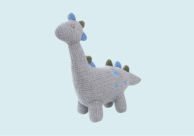 针织灰色小恐龙玩具