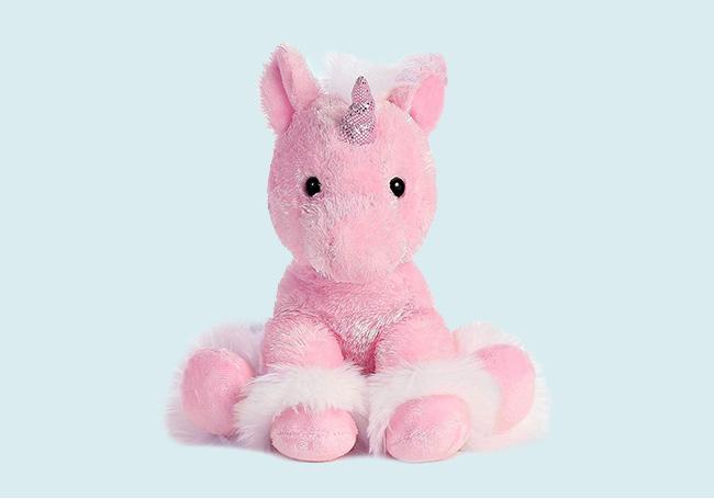 粉色坐姿独角兽玩具