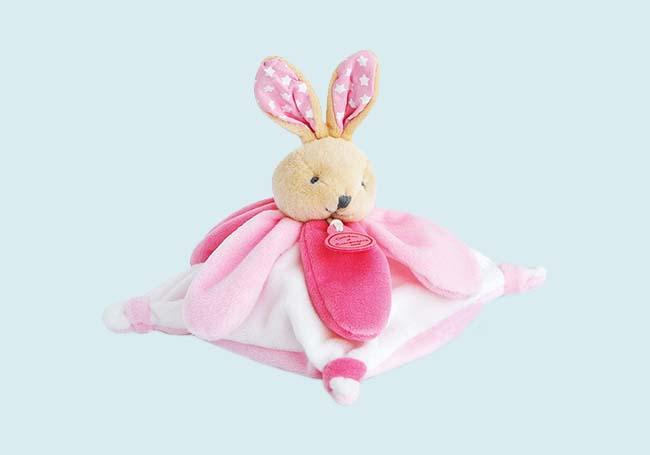 粉红兔兔安抚巾