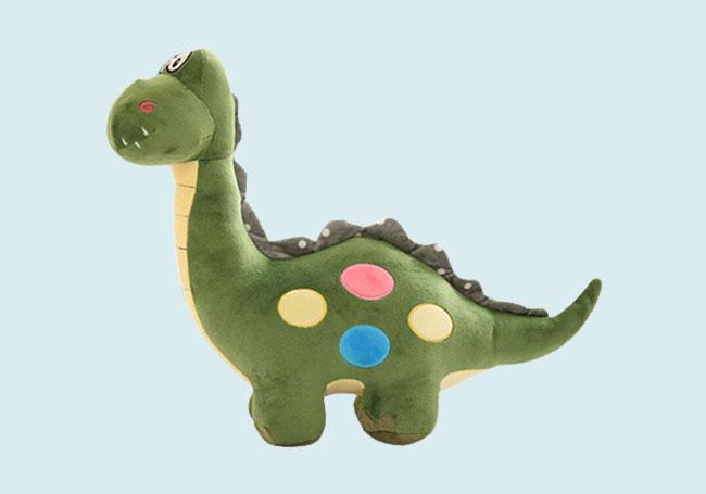 绿色大眼龙毛绒玩具