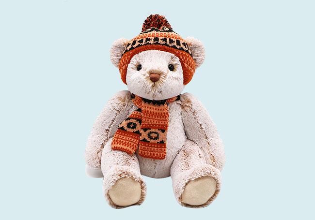 冬季套装小熊毛绒玩具