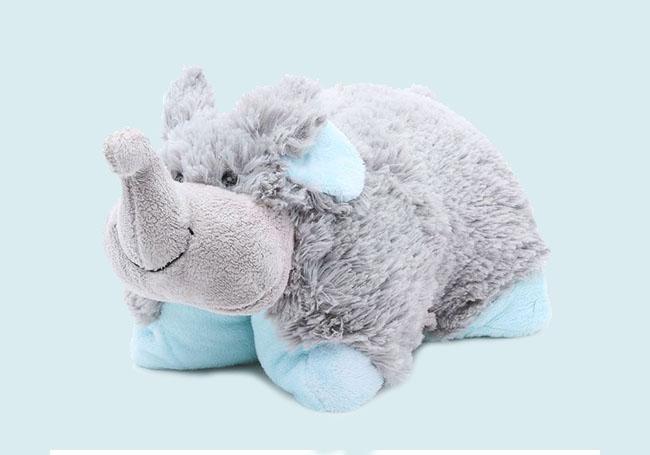 开心小象折叠抱枕