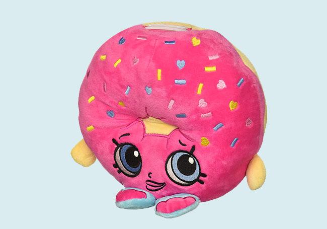 粉色可口甜甜圈存钱筒