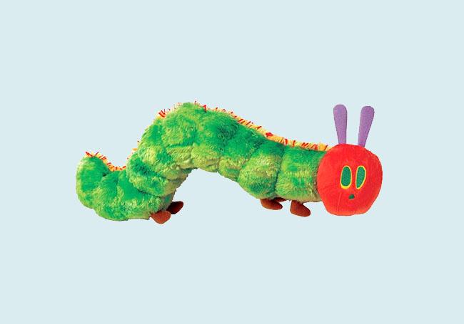 害羞小毛虫毛绒玩具
