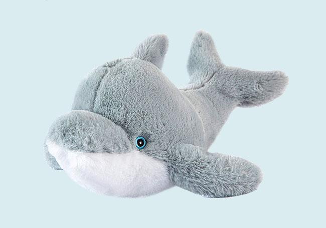 开心小海豚毛绒玩具
