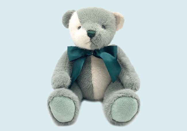 白绿双拼色小熊玩具