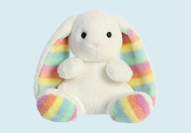 彩虹耳朵兔兔玩具
