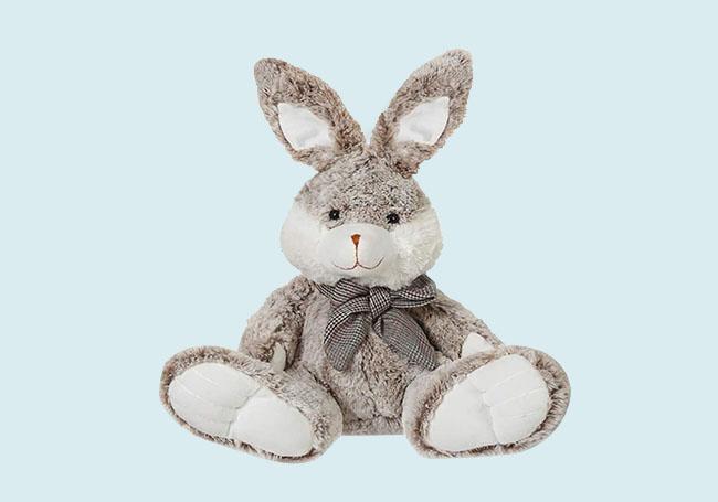 坐姿灰色大胖兔