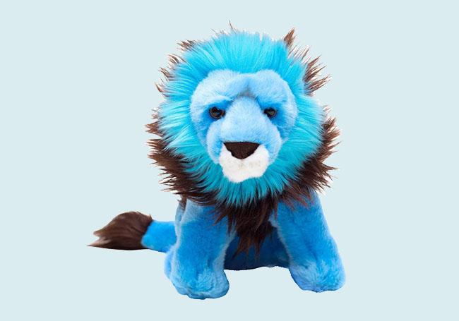 凶猛小蓝狮毛绒玩具