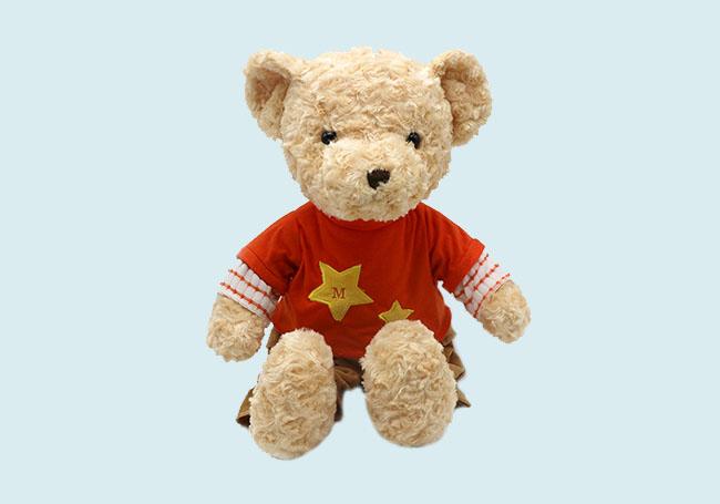 星星T恤小熊玩具