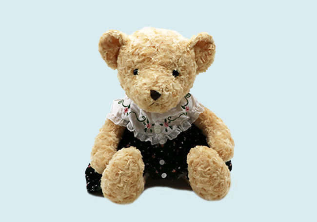 黑色小裙熊熊玩具