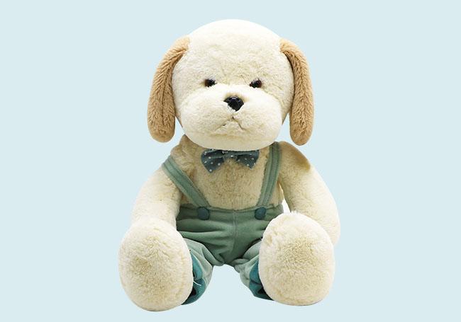 绿色吊带裤狗狗玩具