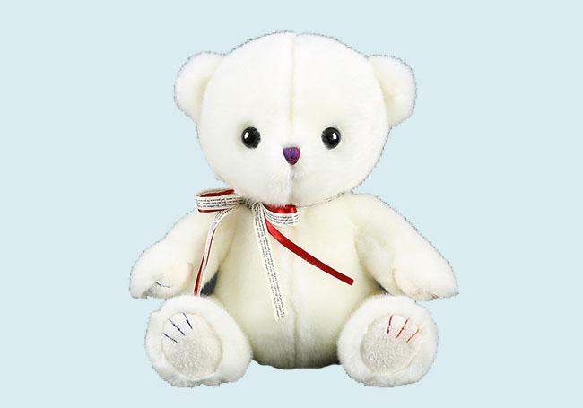 可爱小白熊毛绒玩具