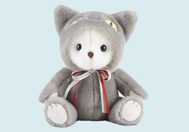 黑猫套装小熊玩具