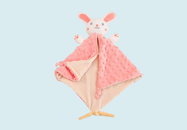 粉色小小兔口水巾